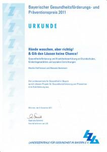 Anerkennung durch die Landeszentrale für Gesundheit in Bayern e.V.