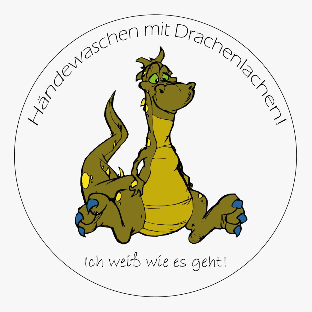 Händeschande mit drachenlachen! Logo
